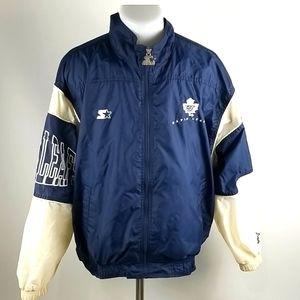 Vintage Starter Toronto Maple Leafs Windbreaker M